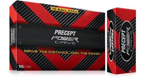 Bridgestone Golf Precept Power Drive Golf Balls and Box