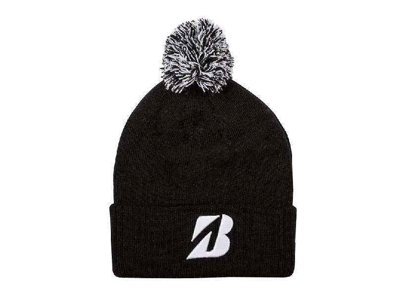 Bridgestone Golf Pom Beanie Black
